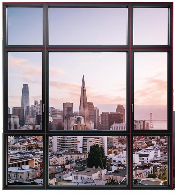 简格系列 105隐扇系统窗